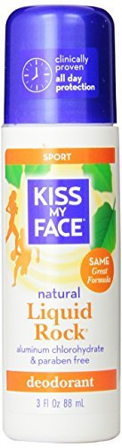 Kiss My Face Liquid Rock Aluminum Chlorohydrate Free Roll-on Deodorant, Sport, 3 Ounce by Kiss My Face
