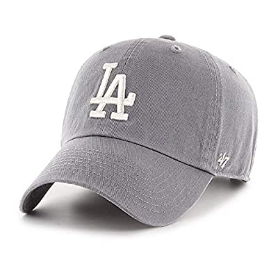 '47 Los Angeles Dodgers Gray White Adjustable Clean Up Dad Slouch Cap