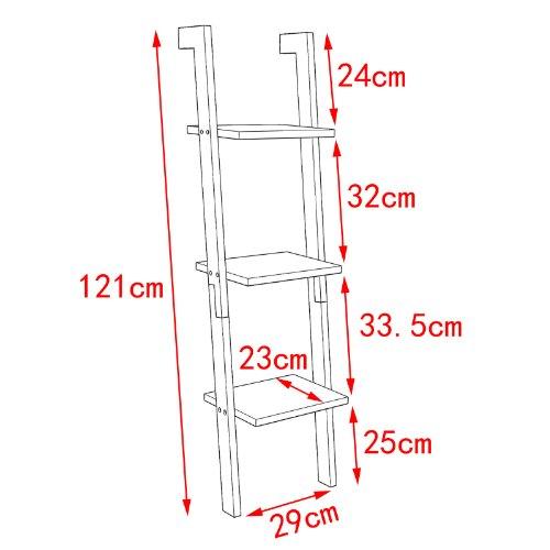 Sobuy moderna estanter a escalonada con 3 estantes - Estanteria escalonada ...
