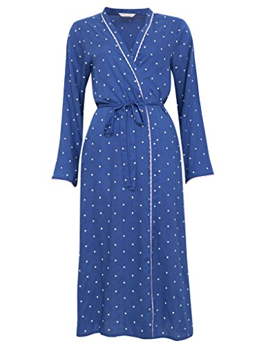 and Nora 1167 Women's Cyberjammies White Modal Rose Robe Spotty Blue pXRCgqw