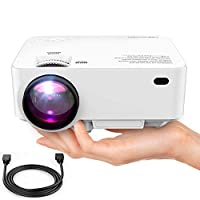 "DBPOWER Mini Projector (PREAD Lamp Solution), 50% Brighter Full HD LED Movie Projector with 176"" Display, 2018 Custimized for Home Theater, Compatible with Smartphone,1080p/HDMI/Supported"