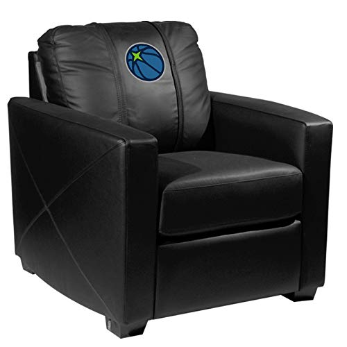 Minnesota Timberwolves NBA Silver Chair with Secondary Logo Panel