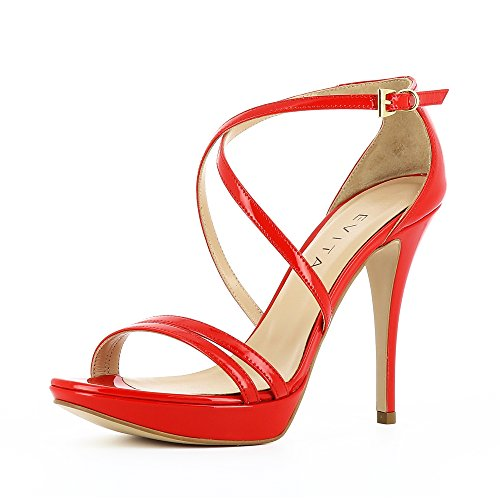 Piel Evita vestir Otra Valeria Rojo Shoes de mujer Sandalias de para 0xwIr0q6P