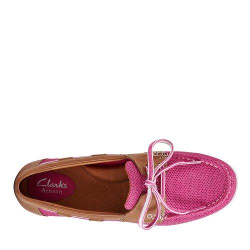 Clarks Womens Cliffrose Sailboat Shoe Fuschia Patent