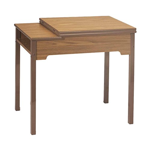 Model 473 Deluxe School Sewing Desk with Leaf Deluxe School Desk w/Fold Away Lift, RM, Opening is 24″x 12.5″
