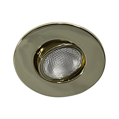 Eco Lighting NY HV4006GD 4-Inch Line Voltage Trim Recessed Light fit Halo/Juno , Adjustable Gimbal Ring, All Gold