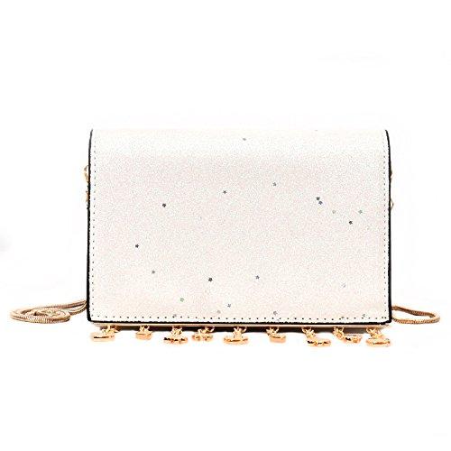 catena a Satchel a Piccola Borsa spalla Borsa Match MSZYZ Fashion argentato Bianco Gifts All paillettes Holiday Uvwqg4nRnP