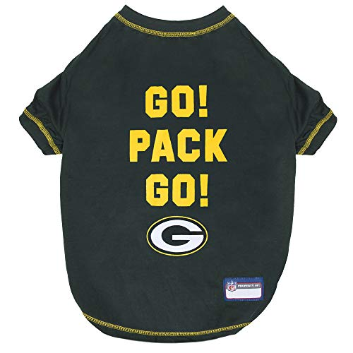 Pets First NFL Green Bay Packers GO Pack GO Cool PET T-Shirt Size: -