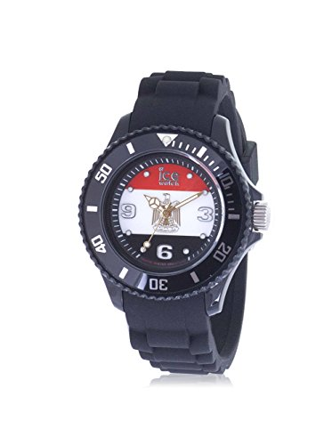 Ice-Watch WO.EG.B.S.12 Collection Ice-World – Wristwatch Men's, Silicone, Band Colour: Black