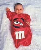 *D* M n M Bunting, Red, Size Newborn