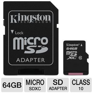 Professional Kingston 64GB LG Volt 2 MicroSDXC Card with custom formatting and Standard SD Adapter! (Class 10, UHS-I) (Virgin Mobile Lg Volt Phone)