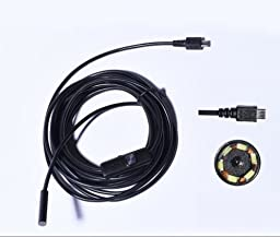 Yosoo 5.5mm Diameter 1/ 1.5/ 2/ 3.5/ 5M 6 LED Android OTG USB Endoscope Waterproof Snake Borescope Inspection Camera Tube Pipe Locator Camera (1.5M)