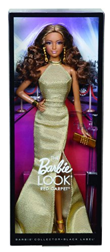 41IITvylhbL - Barbie The Look Red Carpet Black Label Collector: Gold Dress Barbie Doll