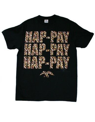 Duck Black T-shirt (Duck Dynasty Hap-Pay Camo Men's T-Shirt, Black, Medium)