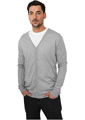 Urban Classics TB405 Men's Knitted Cardigan , color:grey;size:M (Blau Grau Grün)