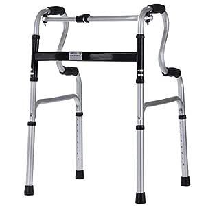 HJW Ayuda para Caminar Plegable Walker Walker Altura Ajustable, No ...