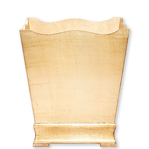Florentine Wastebasket - Vietri Florentine Wooden Accessories Gold Waste Basket