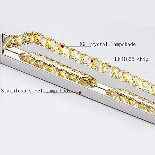 Arbeiten Sie einfache LED-Kristallspiegelscheinwerferschlafzimmerbadezimmertoilettenspiegellampen um XYJGWXDD (Color : Warm light)