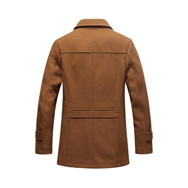 LaoZan Classique Polaire Synthétique Chaud Veste Manteau pour Hommes Épaiss Trench Blouson Parka