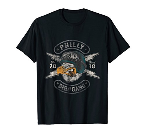 Bird Gang Eagles T-Shirt Vintage Distressed Tee by Eagle T-Shirts and Fly Birds Fly Designs