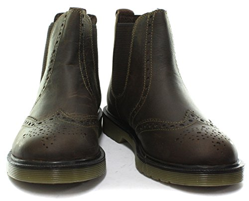 Oaktrak Belper Brune Menns Brogue Chelsea Boots