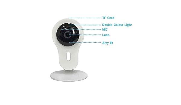 Cámara de Vigilancia inalámbrica,Sin conexión de PC,Visión Nocturna,720p cámara IP WiFi,1,0 Megapixels,4X Zoom Digital,IR Nocturna de 1.0Mp y detección de Movimientos: Amazon.es: Electrónica