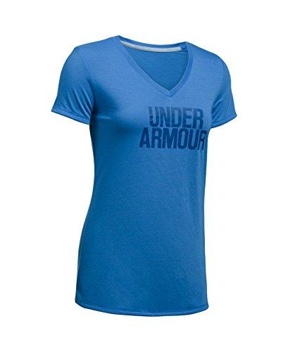 Under Armour Women's Threadborne Train Wordmark V-Neck Shirt
