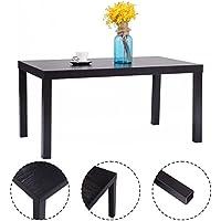 Casart Coffee End Table Rectangular Wood Modern Living Room Furniture Black