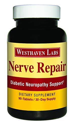Nerve Repair - Neuropathy Pain Relief for Feet & Hands - Sciatic Nerve Pain Relief - All-Natural Dietary Supplement with Alfa Lipolic Acid - Nerve Renew Neuropathy Support Formula - 30 Day Supply (Best Vitamins For Nerves)
