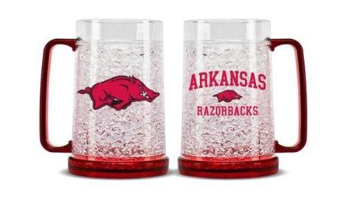 NCAA Arkansas Razorbacks 16oz Crystal Freezer Mug
