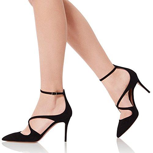 Alto 8111 Con Sexy Elegante TLJ KJJDE Black Cinturino Sexy Donna 38 Tacco Dance Altissimo Tacco Pole Caviglia Scamosciato Aggiornamento Alla qxPwPYft
