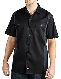 Big and Tall Men's Dickies Color Block Short Sleeve Work Shirt