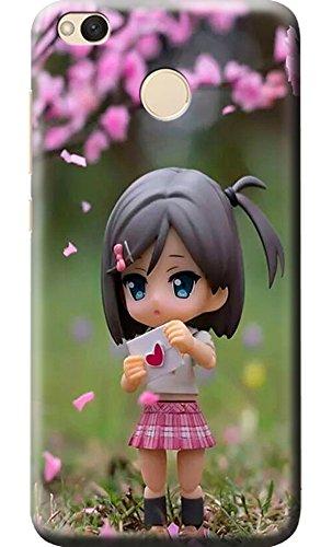 newest 72eea 15871 Fashionury Cute Girl Printed Soft Silicon Back Cover for Xiaomi Redmi 4