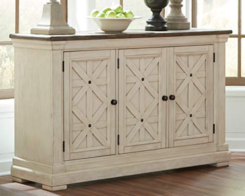 Farmhouse Buffet Sideboards Signature Design by Ashley Bolanburg Dining Room Server, Two-tone farmhouse buffet sideboards
