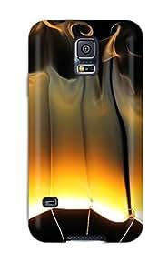 Galaxy S5 Flames Print High Quality Tpu Gel Frame Case Cover