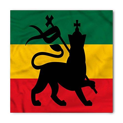 Reggae Tie - Ambesonne Rasta Bandana, Judah Lion Reggae Flag, Unisex Head and Neck Tie