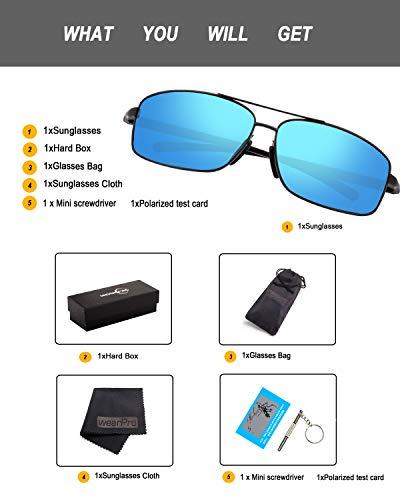 de de Cadre pour Mode Lunettes Lunettes Métal Blue Hommes Hommes Lentille wearPro Soleil Soleil Polarized Silver WP1015 HD Sport Chaude wPZIYPnqXO
