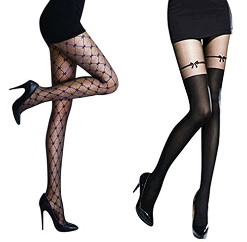 MANZI Designer Pattern Sexy Tights (XS-M 2 pair package)