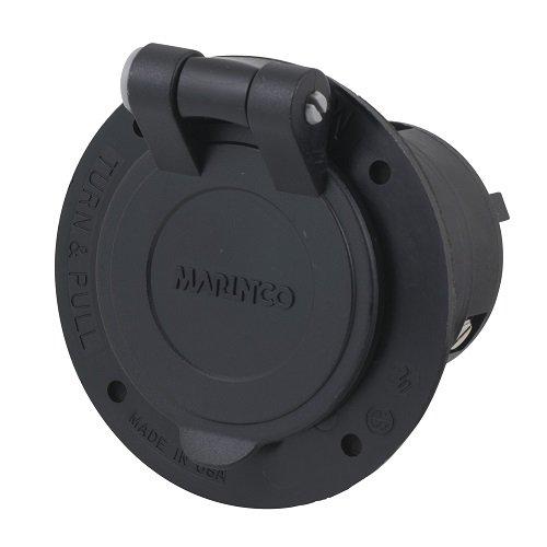 Marinco Power Products CS6375FL.OEM Flanged Inlet with Integral Spring Lid Master/50, 50 Amp, 125V/250V