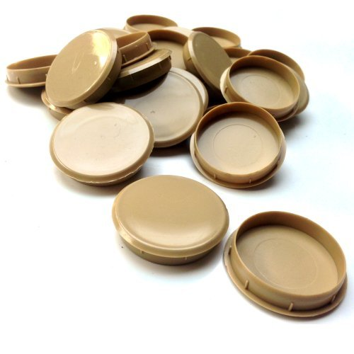 Hinge Plastic Cover (20 x (35MM) LIGHT OAK PLASTIC HINGE HOLE COVER CAPS FOR KITHCEN CABINET CUPBOARD DOORS by Falcon Workshop)