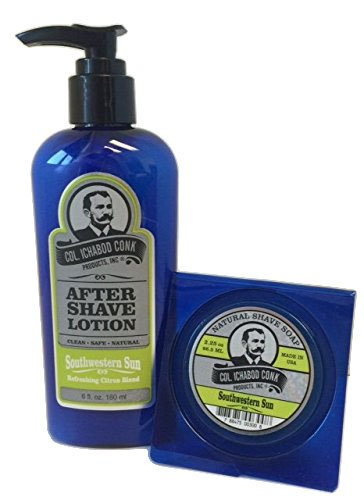 Scented After Sun Lotion (Col. Ichabod Conk Natural Aftershave Lotion 6 fl. oz. Plus Soap (Southwestern Sun))
