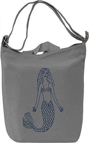 Mermaid Borsa Giornaliera Canvas Canvas Day Bag| 100% Premium Cotton Canvas| DTG Printing|