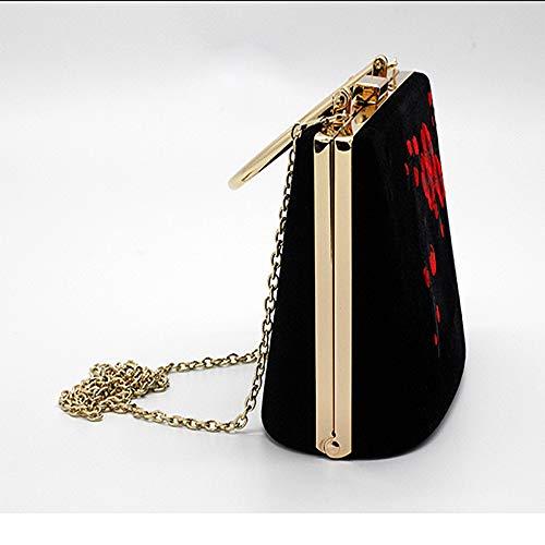 18 Banquete 13 5cm De Bandolera Lzh Bordado Mujer Bolso Original Bolso Diseño qwURYOn1v