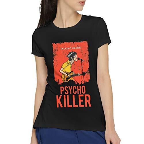 Newfood Ss Talking Heads Psycho Killer Women's Short Sleeve T-Shirt Black XL ()