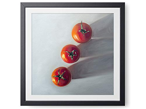Tomato Trio - Oil Painting Giclée Paper - or - Canvas Print Modern Home Office Wall Art Decor - Variety of Sizes Available - Wall Trio Lighting