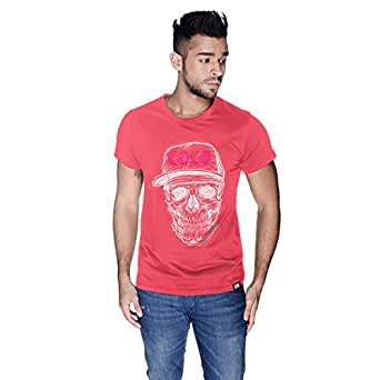 Creo White Pink Coco Skull T-Shirt For Men - Xl, Pink