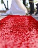 ShinyBeauty Wedding Party Sequin Aisle Runner, Sequin Carpet, 50FTx4FT-Red