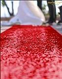 ShinyBeauty Aisle Runner-25FTX4FT-Red,Aisle Runner Outdoor Wedding,Aisle Runner for Wedding,Sequin Aisle Runner,Aisle Runner Fabric (Red)