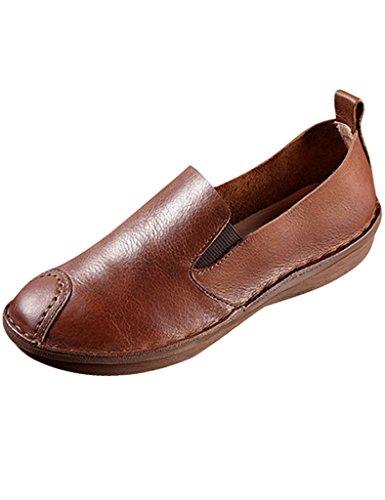 Cuero Zapatos Primavera Planos Vendimia Verano Youlee Mujeres De 7q6YAA