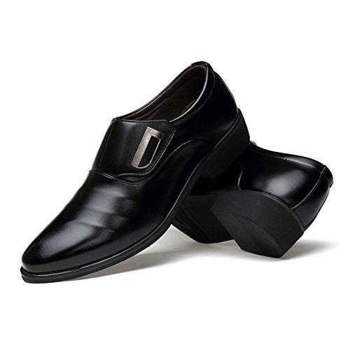 Dearwen Uomo Slip On Oxfords Formale Elegante Scarpe Nere